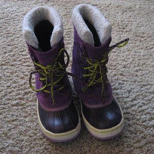 L.L. Bean Kid's Size 2 Purple Duck Boot